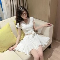 Fashion suit Summer 2021 Average size White, black 18-25 years old Other / other 31% (inclusive) - 50% (inclusive) cotton