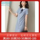 Dress Summer 2020 Dark green, haze purple L,XL,XXL,S,M Mid length dress Short sleeve commute zipper routine 25-29 years old Sllsky / Xi world Simplicity 132LL8313 51% (inclusive) - 70% (inclusive) polyester fiber