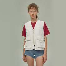 Vest Summer 2020 S,M,L have cash less than that is registered in the accounts other Original design Solid color zipper other 18-24 years old LLANO 96% and above cotton