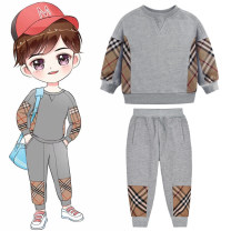 Sweater / sweater Other / other We don't recommend to take too large for the size of gray sweater and gray pants. We suggest to take according to the height of pants. We should be careful if we have different grid distribution neutral winter nothing Europe and America Socket thickening No model