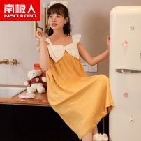 Nightdress NGGGN M3148,M3146,M3147,M3149,M3151,M3152,M3153,M3154,M3155,M3156,M3157,M3158 Female m, female L, female XL, female 2XL Sweet Short sleeve pajamas longuette summer Cartoon animation youth One word collar cotton printing More than 95% pure cotton