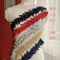 lace Gold, black, red, silvery white, Zang Qing Chantilly A0223
