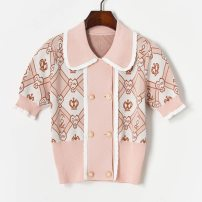 Wool knitwear Spring 2021 S,M,L Pink Short sleeve singleton  other 71% (inclusive) - 80% (inclusive) have cash less than that is registered in the accounts routine Self cultivation