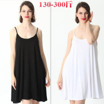 Women's large Summer 2020, spring 2020 White, gray, black, pink, brick red Big XXL, big XXXL, big XXXXL, big XXXXL, big 6xl, big 7XL Vest / sling singleton  commute easy thin Socket Sleeveless Solid color Korean version Crew neck Medium length Cotton, others 1905-22 Other / other 18-24 years old