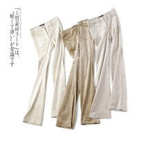 Casual pants 155/60A,160/64A,165/68A,170/72A Autumn 2020 trousers Straight pants Natural waist commute routine 25-29 years old 31% (inclusive) - 50% (inclusive) cotton Ol style