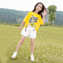 suit Other / other Yellow suit, pink suit, yellow top, pink top, white shorts 120cm,150cm,160cm,170cm,130cm,140cm female summer leisure time Short sleeve + pants 2 pieces Thin money There are models in the real shooting Socket nothing other children Expression of love Class C Other 100%