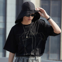 T-shirt Fashion City routine S M L XL XS XXL Croquis / sketch Short sleeve Crew neck standard Other leisure summer Cotton 93% polyurethane elastic fiber (spandex) 7% youth routine tide other Summer 2021 other other Geometric pattern Same model in shopping mall (sold online and offline)
