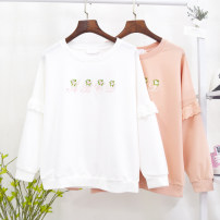 Sweater / sweater Autumn of 2019 Average size Long sleeves routine Socket singleton  routine Crew neck Sweet Mori