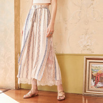 Casual pants flower SML Summer of 2018 trousers Wide leg pants High waist commute KA15082X Artka Retro Other 100% Pure e-commerce (online only)