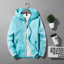 Jacket Other / other other thin easy Other leisure summer Polyester 100% Long sleeves Wear out Hood tide teenagers routine Zipper placket 2019 Rubber band hem No iron treatment Closing sleeve Solid color polyester fiber Rib bottom pendulum Zipper bag polyester fiber More than 95%