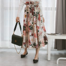 skirt Spring 2021 XS,S,M,L,XL Big flower of retro oil painting, big flower of retro oil painting lacks belt longuette commute Natural waist other other Type A More than 95% other DEAR JANE'S COLLECTION polyester fiber Printing, splicing