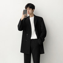 man 's suit black Others Youth fashion routine M,L,XL,2XL easy Two double breasted Other leisure Back middle slit Long sleeves autumn routine tide