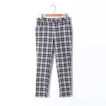 Casual pants Black and white check 34,36,38 Summer of 2019 Ninth pants Pencil pants low-waisted Versatile routine 18-24 years old 51% (inclusive) - 70% (inclusive) Other / other other