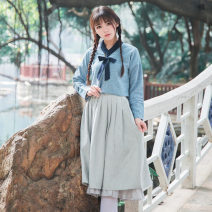 Fashion suit Autumn of 2018 S,M,L Two piece suit of top and suspender skirt
