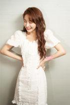 Dress Summer 2020 S,M,L Short skirt singleton  Short sleeve High waist Solid color zipper puff sleeve Others cotton