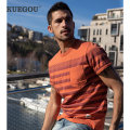 T-shirt Youth fashion orange routine M/170 L/175 XL/180 XXL/185 XXXL/190 Kuegou / cool clothes Short sleeve Crew neck standard daily summer ZT-90071 Cotton 100% youth routine tide other Summer 2021 stripe printing cotton other No iron treatment Domestic famous brands Pure e-commerce (online only)