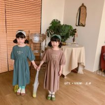 T-shirt spring and autumn Cartoon 0-3 12 months other neutral Cartoon animation Chinese Mainland Green, coffee 110cm, 120cm, 130cm, 140cm, 150cm, one hand