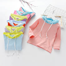 Sweater / sweater Class B Cotton liner Chinese Mainland female spring and autumn 12 months, 18 months, 2 years old, 3 years old, 4 years old, 5 years old, 6 years old, 7 years old Little shine house The cap is not detachable leisure time Condom cotton Cotton 100% Solid color No model in real shooting