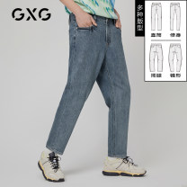 Jeans Youth fashion GXG 165/S 170/M 175/L 180/XL 185/XXL 190/XXXL Blue (straight version) blue (slim version) blue (tapered version) blue (loose wide leg) blue B (straight version) blue c routine Micro bomb 10C105003A trousers Cotton 92.3% polyester 6.7% polyurethane elastic fiber (spandex) 1% spring