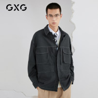 Jacket GXG Youth fashion grey 165/S 170/M 175/L 180/XL 185/XXL 190/XXXL easy Other leisure autumn Polyester fiber 68% viscose fiber (viscose fiber) 31% polyurethane elastic fiber (spandex) 1% Long sleeves Lapel youth routine Single breasted Closing sleeve Autumn 2020 other
