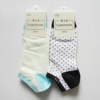 Socks / base socks / silk socks / leg socks female Elementscoton / cotton element Average size 1 pair Thin money Boat socks summer Simplicity Dot cotton C939 Common crotch