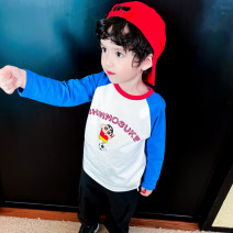 T-shirt Bella 80cm,90cm,100cm,110cm,120cm,130cm male spring and autumn Long sleeves Crew neck leisure time There are models in the real shooting nothing cotton Cartoon animation Class B 3 months, 6 months, 12 months, 9 months, 18 months, 2 years old, 3 years old, 4 years old, 5 years old