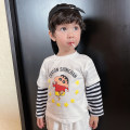 T-shirt White 2 T, blue 2 T, yellow 2 T, yellow 2 T, green 2 T, gray 2 t Bella 80cm,90cm,100cm,110cm,120cm,130cm neutral spring and autumn Long sleeves leisure time There are models in the real shooting other Cartoon animation Class A