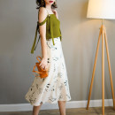 skirt Summer of 2019 S,M,L White, black, mint green Mid length dress Versatile Natural waist A-line skirt Decor Type A 25-29 years old 19Q6488 More than 95% other ron&ron other