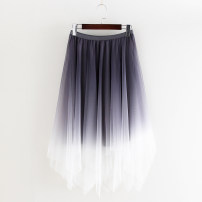 skirt Summer 2020 Average size Grey, black, blue, coffee Mid length dress Sweet Natural waist A-line skirt other Type A Other / other