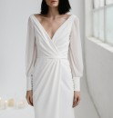 Wedding dress Summer 2020 Small tailors Simplicity Small tail zipper Outdoor Lawn  other soft silk fabric in satin weave Three dimensional cutting middle-waisted 18-25 years old Sleeved shawl FANA fairy clothes Large size 96% and above polyester fiber