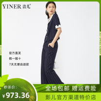 short coat Spring 2021 36, 38, 40, 42, 44, 46 Tibetan blue Short sleeve have cash less than that is registered in the accounts routine singleton  double-breasted Sound 31% (inclusive) - 50% (inclusive) 3D 8C51210030 nylon polyester fiber