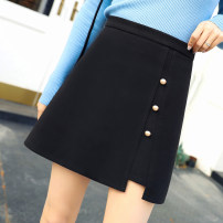 skirt Spring 2020 S,M,L,XL,2XL black Short skirt Versatile High waist A-line skirt Solid color Type A 18-24 years old Q-3288 81% (inclusive) - 90% (inclusive) Wool polyester fiber Three dimensional decoration 401g / m ^ 2 (inclusive) - 500g / m ^ 2 (inclusive)
