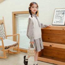 suit Other / other Two piece dress 120cm,130cm,140cm,150cm,160cm female spring and autumn Korean version Two piece set routine There are models in the real shooting lattice cotton Class B Four, five, six, seven, eight, nine, ten, eleven, twelve, thirteen, fourteen Chinese Mainland
