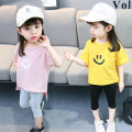 suit Other / other Pink white yellow 80cm tag 80 for 0-1 years old 90cm tag 90 for 1-2 years old 100cm tag 100 for 2-3 years old 110cm tag 110 for 3-4 years old female summer princess Short sleeve + pants 2 pieces Thin money There are models in the real shooting Socket nothing Solid color cotton