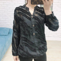 shirt black M,L,XL Spring 2020 other 30% and below Long sleeves Versatile Regular stand collar Socket routine Solid color 25-29 years old Straight cylinder Yaneryi cupboard