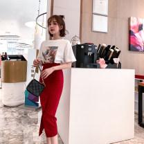 Fashion suit Spring 2021 S,M,L Red, white T-shirt Rain Road ZDD1351 31% (inclusive) - 50% (inclusive)