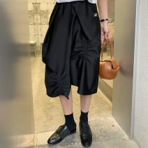 skirt Summer 2021 S (in stock), m (in stock), s (about 5 days), m (about 5 days) Black, white Mid length dress commute High waist Solid color 71% (inclusive) - 80% (inclusive) other Pleating