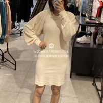 Dress Autumn 2020 011 meter white, 021 black gray Average size Middle-skirt singleton  Long sleeves Sweet Crew neck middle-waisted Solid color Socket other other Others 25-29 years old Type H Sly 030DA080-4570 30% and below other cotton solar system