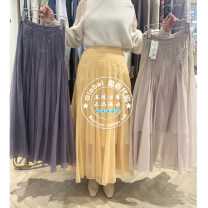 skirt Spring 2021 One hundred and fifty, one hundred and fifty Light beige, dark gray, orange longuette commute High waist Pleated skirt Solid color Type A 25-29 years old SWFS211017 30% and below Chiffon SNIDEL polyester fiber fold lady 401g / m ^ 2 (inclusive) - 500g / m ^ 2 (inclusive)