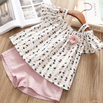 suit Other / other female summer Korean version Short sleeve + pants 2 pieces Thin money No model Socket nothing Broken flowers Cotton blended fabric children Expression of love Cotton 50% polyester 50% Chinese Mainland Zhejiang Province Wenzhou City