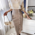 skirt Winter 2020 S M L XL Camel grey black Caramel camel grey (spare) black (spare) Caramel (spare) Middle-skirt grace High waist Type H 25-29 years old DT1DSK008 81% (inclusive) - 90% (inclusive) Big pink doll polyester fiber Button
