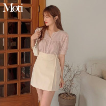 Fashion suit Summer 2021 S,M,L,XL Shirt, skirt 18-25 years old