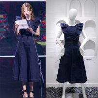 Dress Summer of 2018 dark blue S,M,L,XL