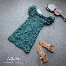 Dress Summer of 2019 blackish green S