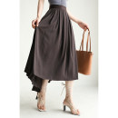 skirt Spring 2021 36,38 Brown spot, black spot longuette Retro High waist Pleated skirt Solid color More than 95% other Special clothes other