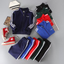 suit Other / other Red, black, sapphire, Navy, dark green neutral spring and autumn motion Long sleeve + pants 2 pieces routine No model Zipper shirt nothing Solid color cotton children Giving presents at school Cotton 95% polyurethane elastic fiber (spandex) 5% Chinese Mainland Shandong Province