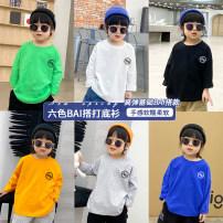 T-shirt White, green, orange, black, gray, sapphire blue, white -- Green -- orange -- black -- gray -- sapphire blue- DDJ BIBI 90cm,100cm,110cm,120cm,130cm,140cm,150cm neutral spring and autumn cotton printing T-21031