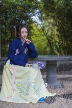 Custom made Hanfu Narrow sleeve cross necked shirt (single layer), skirt piece, shirt + skirt set, Gary lining other Midnight Song Hanfu studio