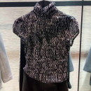 shirt black 2 / s, 3 / m, 4 / L, 5 XL, 6 Summer of 2019 nylon 96% and above Short sleeve commute Regular High collar routine Self cultivation Novel goldette Korean version