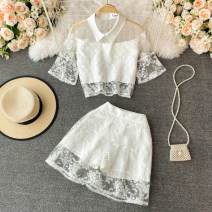 Fashion suit Summer 2021 S,M,L white 18-25 years old 30% and below
